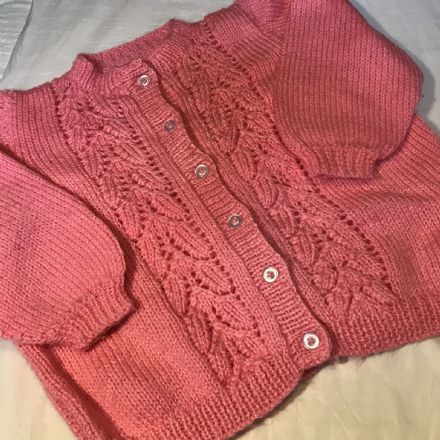 2 Year Pink Knitted Cardigan